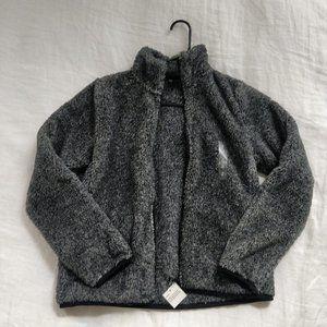Uniqlo Fuzzy Grey Full Zip Fleece Jacket